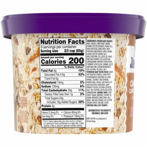 Kroger® Deluxe Jammed BabyRuth Caramel Candy Crunch Frozen Dairy Dessert Perspective: right
