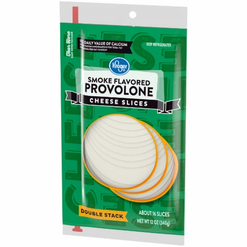 Kroger® Smoke Flavored Provolone Cheese Slices Perspective: right