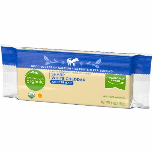 Simple Truth Organic® Sharp White Cheddar Cheese Bar Perspective: right
