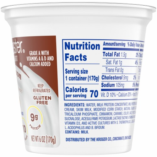 Kroger® CarbMaster® Cinnamon Roll Cultured Dairy Blend Perspective: right