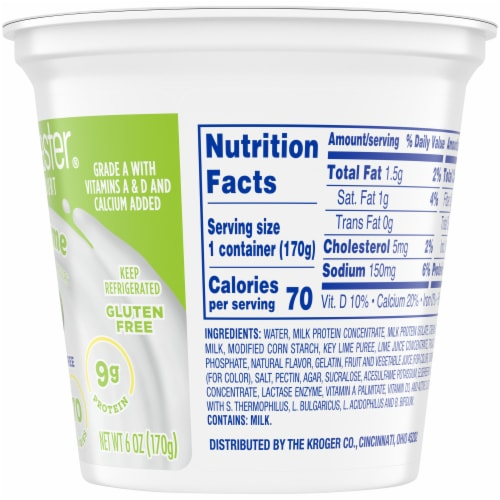 Kroger® CarbMaster® Key Lime Cultured Dairy Blend Yogurt Perspective: right