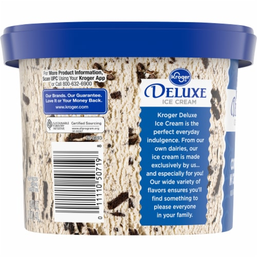 Kroger® Deluxe Cookies N' Cream Ice Cream Perspective: right