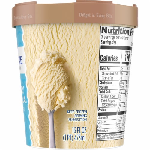 Kroger®  Deluxe Vividly Vanilla Ice Cream Tub Perspective: right