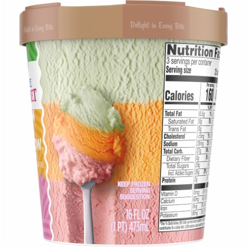 Kroger® Deluxe Rainbow Lowfat Sherbet Perspective: right
