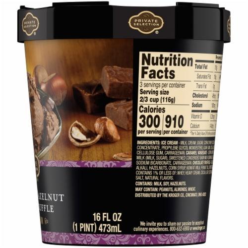 Private Selection® Caramel Hazelnut Fudge Truffle Ice Cream Perspective: right
