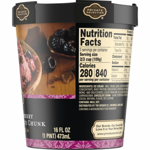 Private Selection® Black Raspberry Chocolate Chunk Ice Cream Perspective: right
