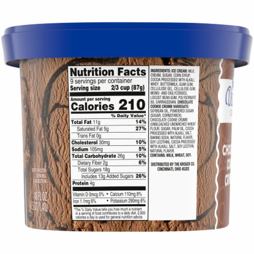 Kroger® Deluxe Chocolate Cookie Crumble Ice Cream Perspective: right