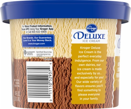 Kroger® Deluxe Best of Both Chocolate & French Vanilla Ice Cream Perspective: right