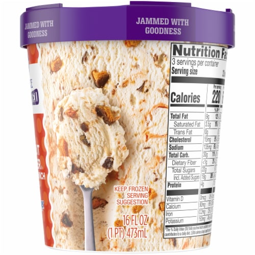 Kroger® Deluxe Jammed Butterfinger Peanut Butter Candy Crunch Frozen Dairy Dessert Perspective: right