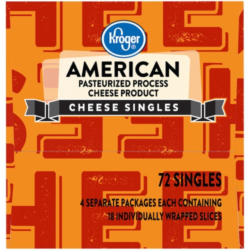 Kroger® American Cheese Singles 72 Count Package Perspective: right