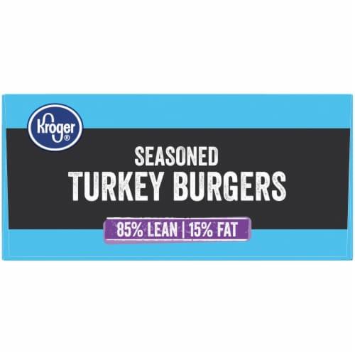 Kroger® 85% Lean Seasoned Turkey Burgers Perspective: right