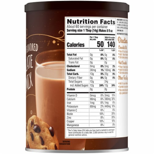 Kroger® Naturally Flavored Chocolate Milk Mix Perspective: right