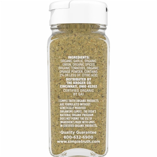 Simple Truth Organic™ Salt Free Garlic Herb Seasoning Blend Perspective: right