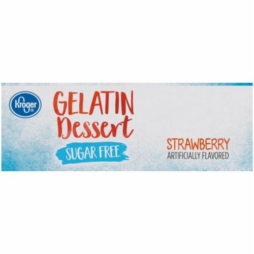 Kroger® Sugar Free Strawberry Flavored Gelatin Dessert Perspective: right