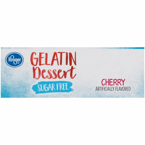 Kroger® Sugar Free Cherry Flavored Gelatin Dessert Perspective: right