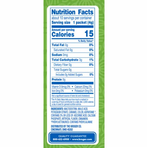 Kroger® Instant Sugar Free Spiced Cider Packets 10 Count Perspective: right