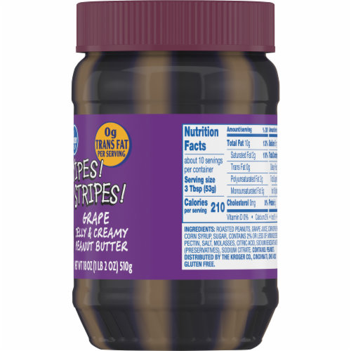 Kroger® Yipes Stripes Grape Jelly & Creamy Peanut Butter Perspective: right