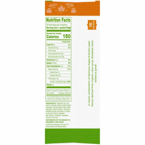 Simple Truth Organic™ Maple & Brown Sugar Instant Oatmeal Perspective: right