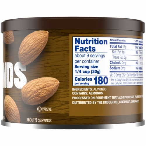 Kroger® Unsalted Raw Almonds Perspective: right