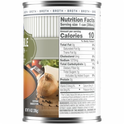 Kroger® Fat Free Vegetable Broth Perspective: right