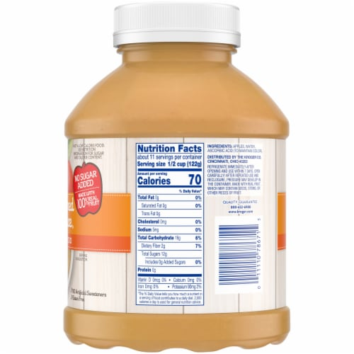 Kroger® Unsweetened Applesauce Perspective: right