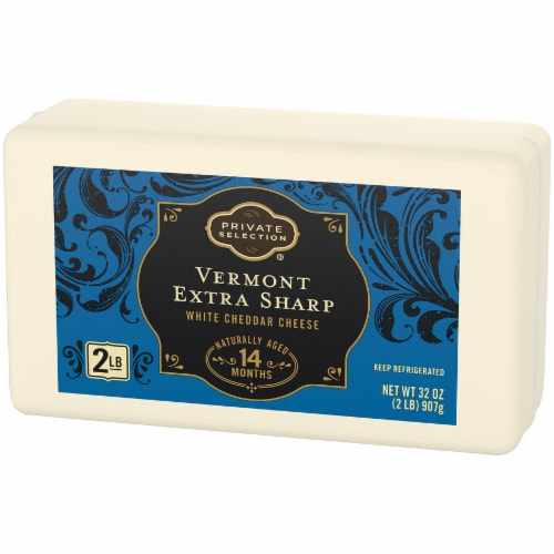 Private Selection® Vermont Extra Sharp White Cheddar Cheese Bar Perspective: right