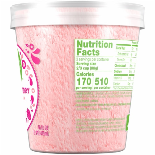 Simple Truth Organic™ Strawberry Ice Cream Perspective: right