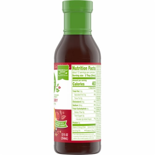 Simple Truth Organic™ Lite Raspberry Vinaigrette Perspective: right