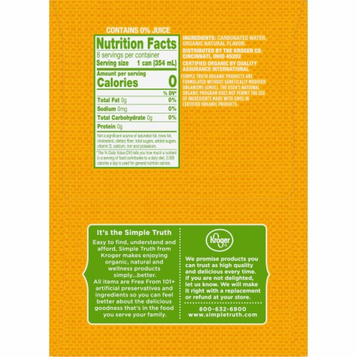 Simple Truth Organic™ Pineapple Seltzer Water Perspective: right
