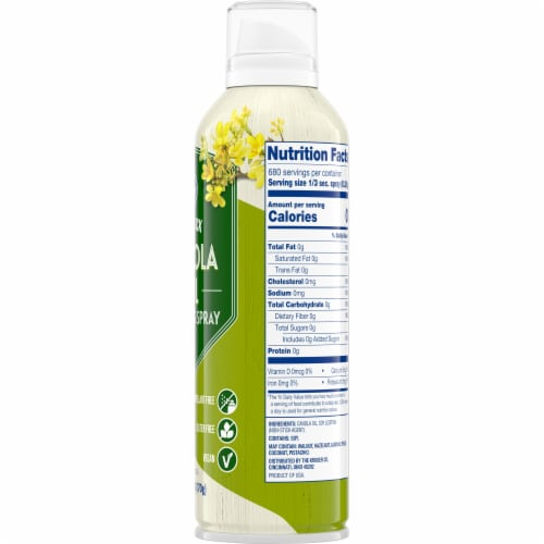 Kroger Non Stick Canola Cooking Spray Perspective: right