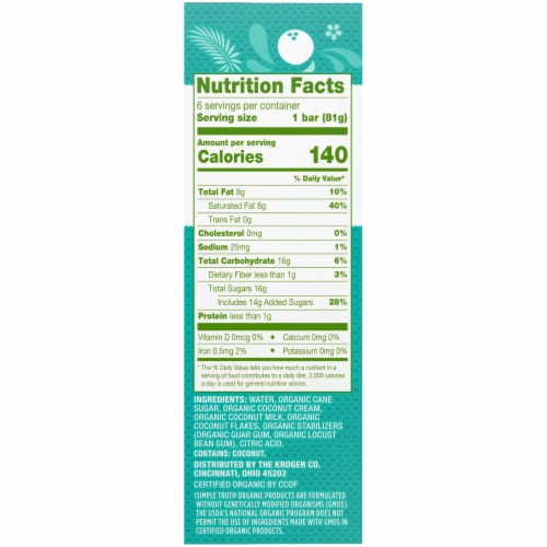 Simple Truth Organic™ Dairy-Free Coconut Paletas Fruit Bars Perspective: right