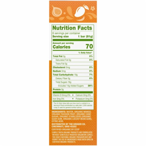 Simple Truth Organic™ Dairy-Free Mango Passion Fruit Paletas Bars Perspective: right