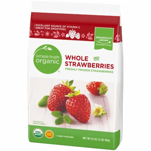 Simple Truth Organic® Frozen Whole Strawberries Perspective: right