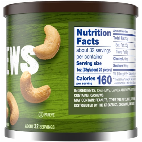 Kroger® Salted Whole Cashews Perspective: right