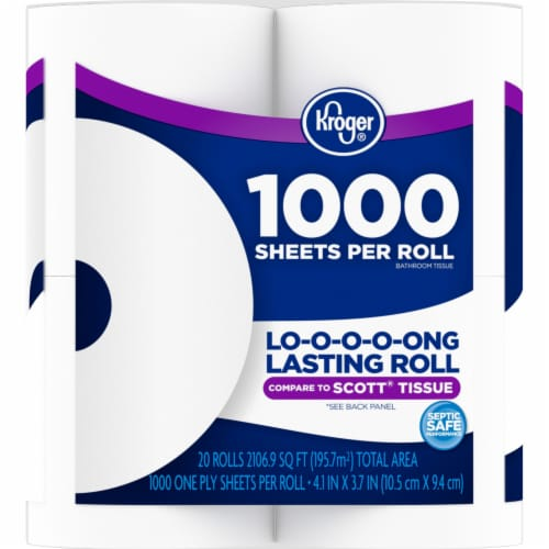Kroger® 1000 Sheets Per Roll Bath Tissue Perspective: right