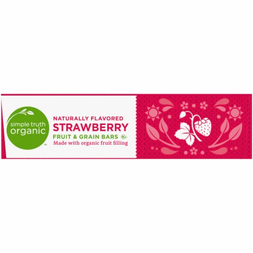 Simple Truth Organic™ Strawberry Fruit and Grain Bars 6 Count Perspective: right