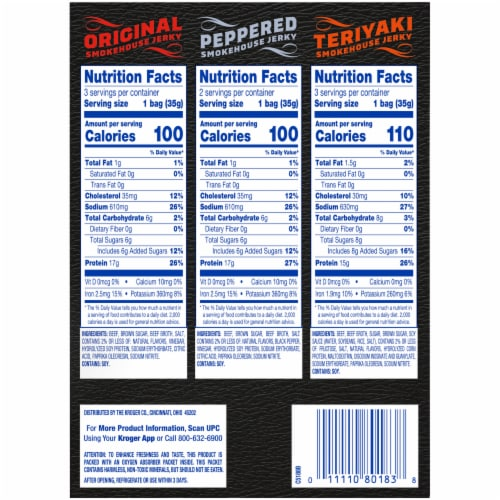 Kroger® Beef Smokehouse Jerky Multi-Pack Perspective: right