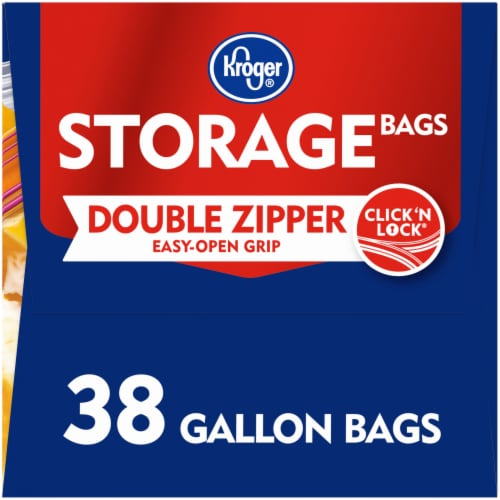Kroger® Double Zipper Gallon Storage Bags Perspective: right