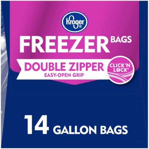 Kroger® Double Zipper Gallon Freezer Bags Perspective: right