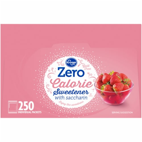 Kroger® Zero Calorie Sweetener with Saccharin Packets Perspective: right