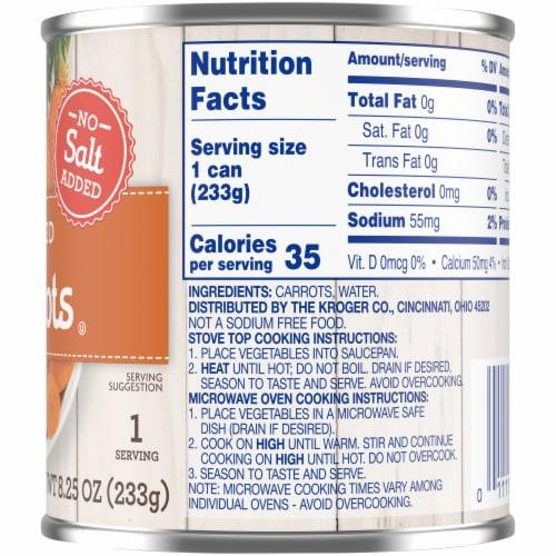 Kroger® No Salt Added Sliced Carrots Perspective: right