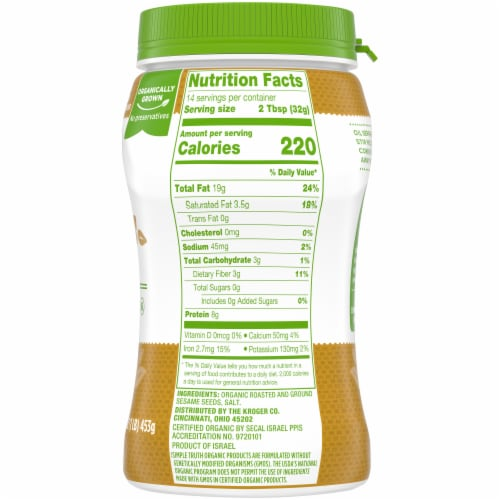Simple Truth Organic® Tahini Ground Sesame Seed Perspective: right