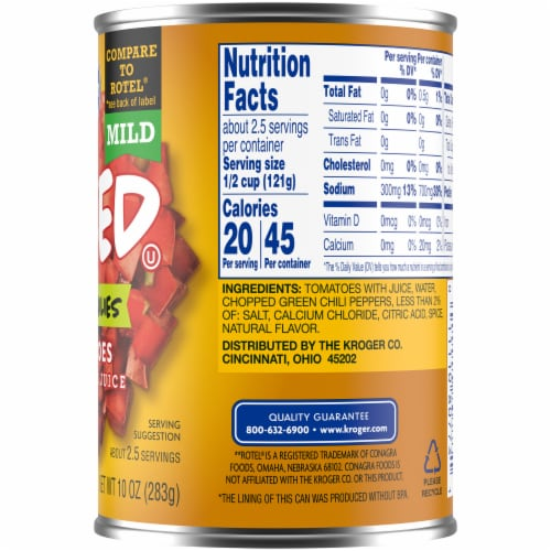 Kroger® Mild Diced Tomatoes with Green Chilies Perspective: right