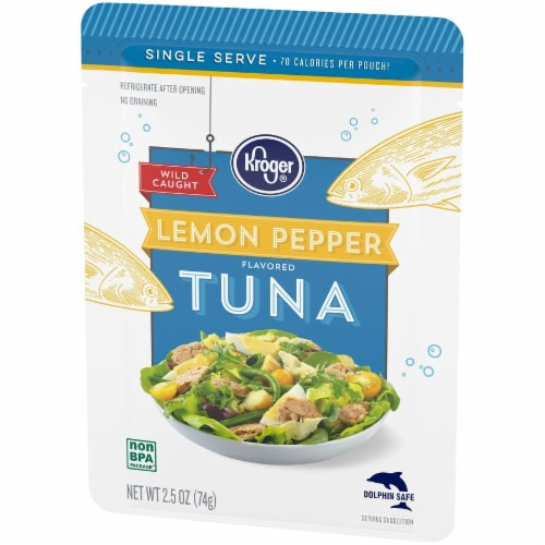 Kroger® Wild Caught Lemon Pepper Flavored Tuna Pouch Perspective: right