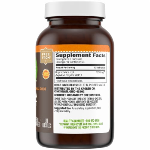 Simple Truth® Maca Root Capsules 615mg Perspective: right