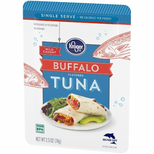 Kroger® Wild Caught Buffalo Flavored Tuna Pouch Perspective: right