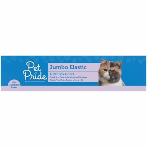 Pet Pride® Jumbo Elastic Litter Box Liners Perspective: right
