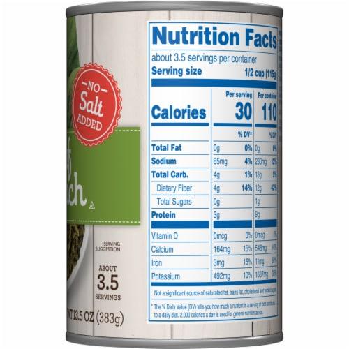 Kroger® No Salt Added Leaf Spinach Perspective: right