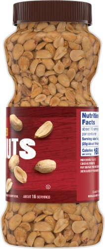 Kroger® Dry Roasted Unsalted Peanuts Perspective: right