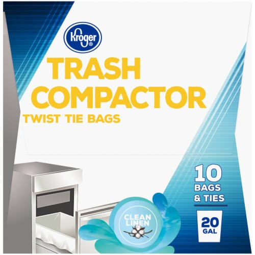 Kroger® Tie Trash Compactor Bags 20 Gal 10 ct Box Perspective: right